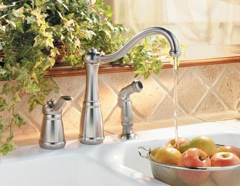 pull down faucet with coil
