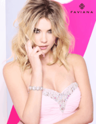 Ashley Benson wearing Faviana's 7101 prom dress