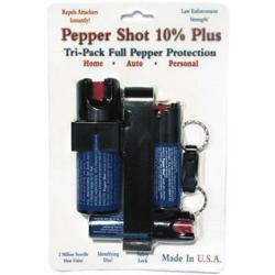 Safety Technology's Pepper Shot Tri-Pack pepper sprays are made from a very fine grain of pepper, which is more effective than the coarser grains used by most pepper spray manufacturers.