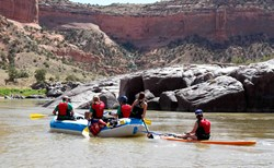 Colorado River rafting near Grand Junction.
