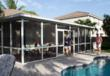 A screen enclosure from Venetian Builders, Inc., Miami. This room is designed to convert easily to a sun room when family needs dictate and budget allows.
