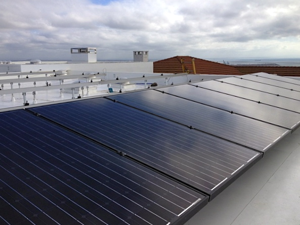 Installation Of A Rack Mounted Solar PV System And IB Roofing System By  Chandleru0027s Roofing On A Custom Home In San Pedro, CA.