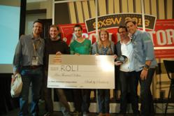 The team at ROLI receives their award as the are named winners of the 2013 SXSW Music Accelerator