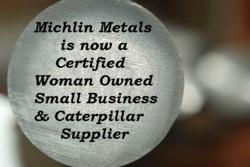 Woman Owned Small Business, WOSB, Caterpillar, Supplier, stainless steel round bar