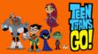 Cyborg, Robin, Raven, Starfire & Beast Boy reunite — and bring along pet Silkie — in TEEN TITANS GO!, premiering Tue, Apr 23, 7:30 p.m. ET/PT Cartoon Network. (Photo Credit: © 2013 WBEI & DC Comics.)