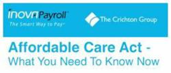 Inova Payroll and The Crichton Group Present a free ACA webinar