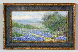 "Signed Julian Oonderdonk, ""Field of Bluebonnets."""
