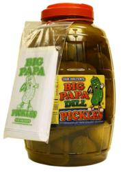 Van Holten's new Big Papa Dill Pickles 30 count Barrel is perfect for concessions, delis, & foodservice