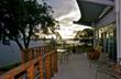Oversize riverfront terrace