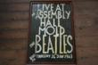 Hand made poster for Beatles performance at Mold Assembly Hall 24th January 1963