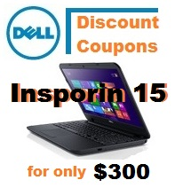 Dell $300 Inspiron 15 Coupon