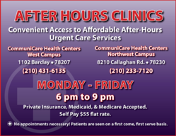 OBGYN clinic, urgent care, pediatric center