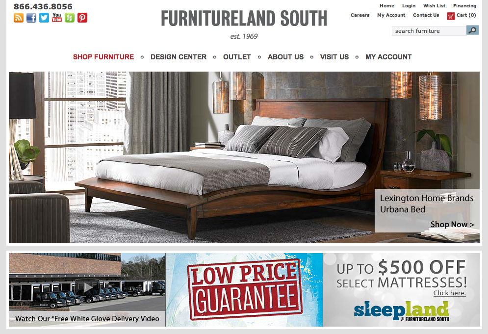 Furnitureland south launches online store Furniture land south