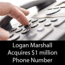 Logan Marshall Acquires 1 Million Dollar Phone Number