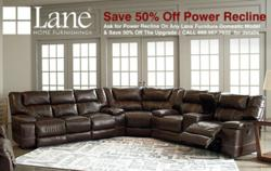 Lane Power Recline Sale Landing Page Banner