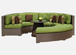Malibu All Weather Outdoor Resin Wicker Sectional