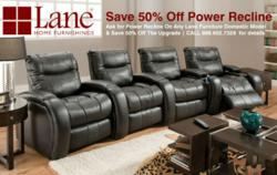 TheaterSeatStore.com Lane Power Recline sale Promo - Banner Ad