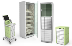 SmartCart, Supply Cabinet, Medication Cabinet and Mini Module with Temperature Monitoring