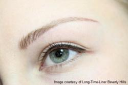 Semi permanent eyebrow and eyeliner