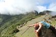 Anahata Flying at Machu Picchu