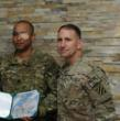 Captain James Van Thach & General Robert B. Abrams in Afghanistan