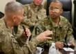 General Christopher P. Hughes & Captain James Van Thach in Afghanistan