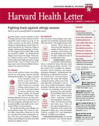 Cover of the March 2013 Harvard Health Letter
