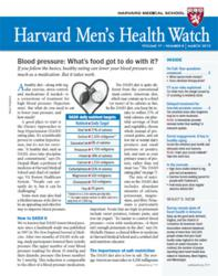 Cover of the March 2013 Harvard Men's Health Watch