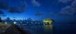 Chabil Mar Belize Resort Beach and Pier at Night