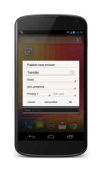 Quickly add tasks to your to-do list using task manager Todoist's  widget for Android.