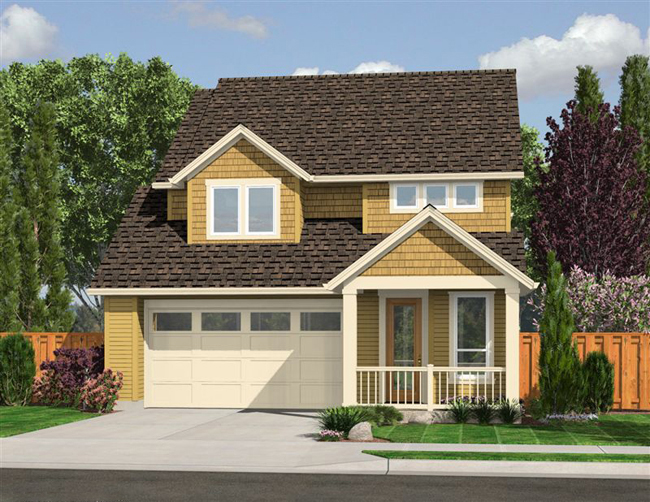 Housing Shortage Prompts The House Designers to Reach out to Home    This craftsman house plan is an affordable two story home   plenty of amenities including a basement floor plan affordable house plan from The House
