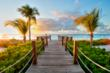 The boardwalk from The Tuscany to the Caribbean.
