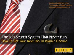 How to get your next job in Islamic finance