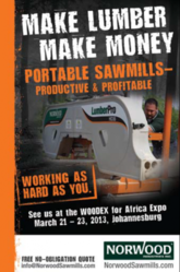 Norwood Sawmills at WoodEX for Africa 2013