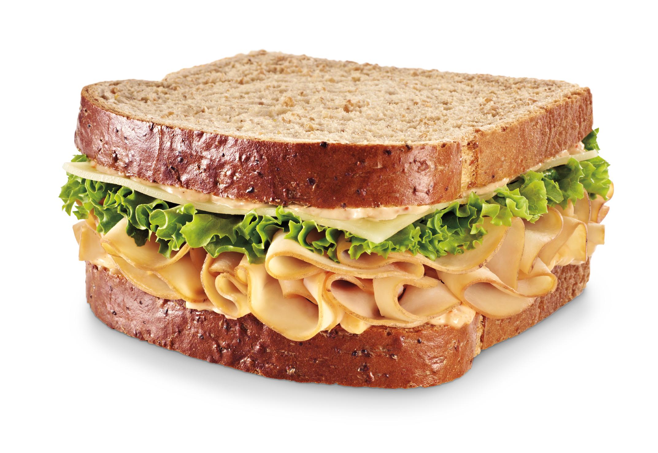 Turkey And Cheese Sandwich On Wheat Bread 7-eleven, 7 eleven, sandwich ...