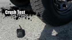 Tait Tough crush test: A Tait TP9400 portable radio versus a 2.2-ton Jeep.