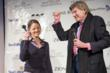 Jodie Foster receives key to the city from Sun Valley Mayor, DeWayne Briscoe.