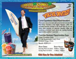 Maui Wowi At Portland Franchise Expo, March 23-24