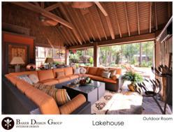Outdoor Living Area Designed by Baker Design Group