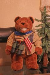 A Teddy Bear made to look like its namesake, Teddy Roosevelt, is just one of thousands at the Teddy Bear Museum of the Sierra in Oakhurst, about 15 minutes south of Yosemite National Park.