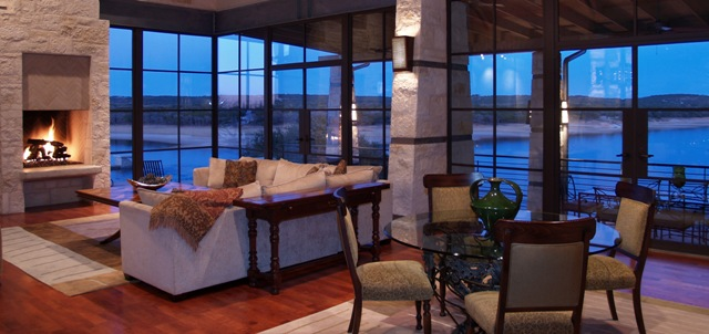 Regent property group announces redesigned lake austin living website - Small lake house interiors ...
