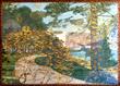 Miriam Ellner's original églomisé painting, Triptych 1