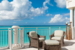 Balcony seating at one of the penthouse suites offer spectacular views.