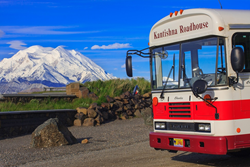 Travel 92 miles into the heart of Denali National Park to the heart of the Kantishna Gold Mining District