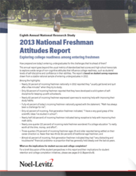 Freshman Attitudes report cover