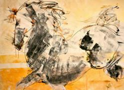 Sun Stallion, original painting by Donna Bernstein