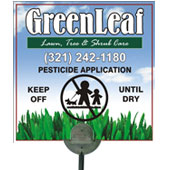 Lawn posting sign