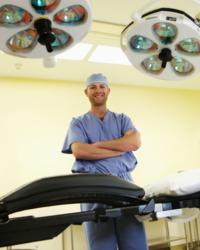 dr. john winestone of great lakes neurosurgical associates pc in grand rapids michigan. dr. winestone is the first US surgeon to perform minimally invasive brain surgery using the Mazor Robotics Renaissance. The robot is also used in MIS spinal surgery.