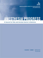 Anesthesia Progress cover - Volume 60, Issue 1  (Spring 2013)