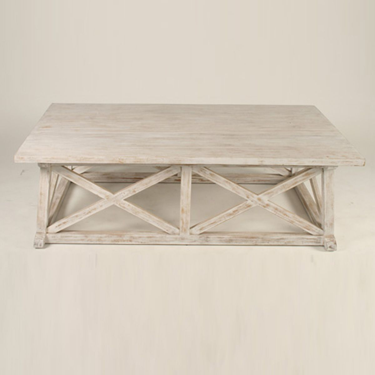 A new collection of white washed furniture has arrived at our boat house White wood coffee table